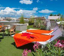 Hotel Cattolica con terrazza lettini